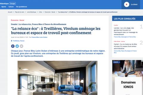 La relance économique avec Vivolum sur France Bleu